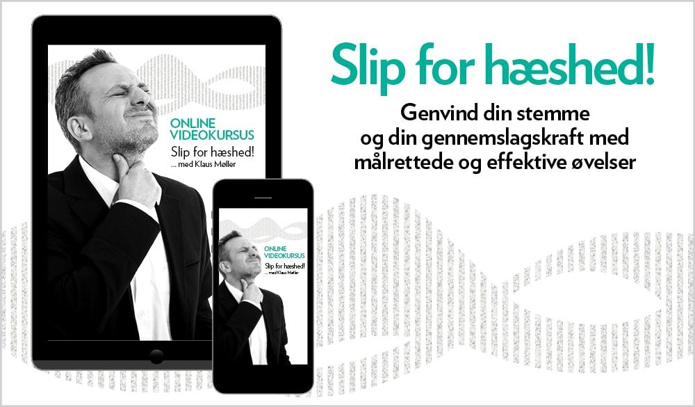 Produktbillede hæshed. Content marketing strategi førte til nyt produkt. beritbai.dk