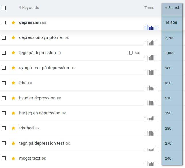 Søgeord til brug for Google optimering. SEO-specialist Berit Bai