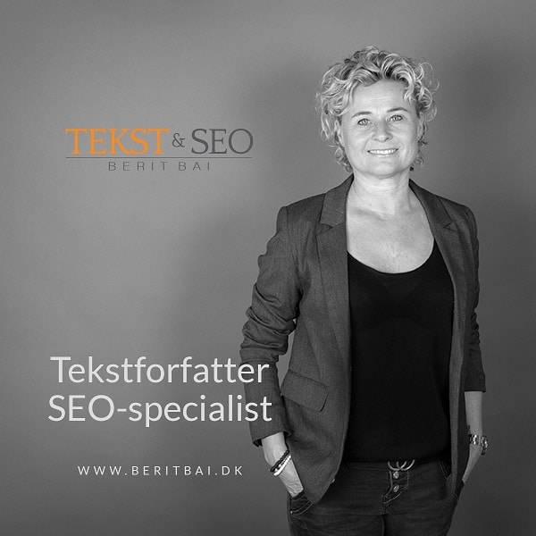 Tekstforfatter og SEO-specialist Berit Bai. beritbai.dk
